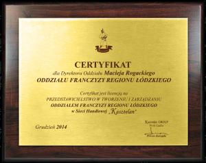 Certyfikat Kasztelan